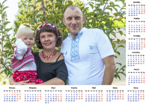 сувеніри від фотостудії: друк календарів