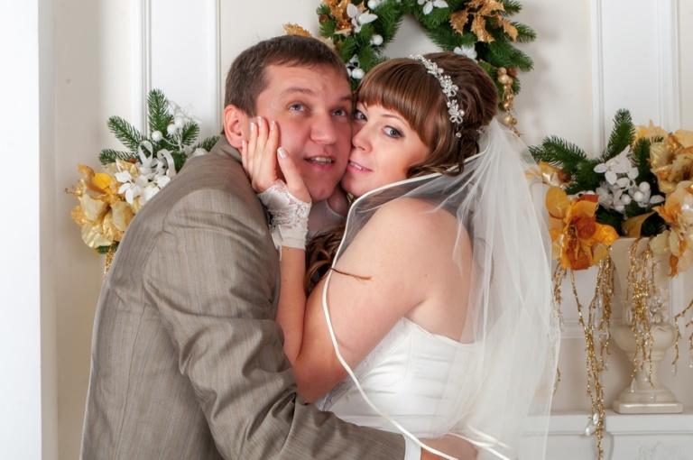 свадебная фотография в фотостудии
