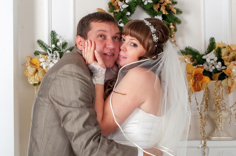 свадебное фото, фотосессия в студии