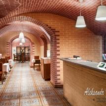 interior of the restaurant, corner bar